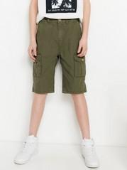 Løs cargo-shorts Kaki