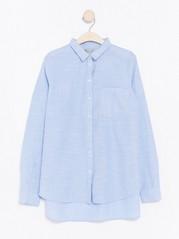 Striped Cotton Shirt  Blue