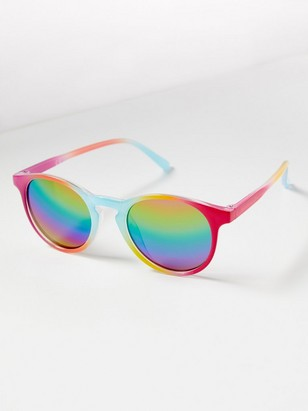 Rainbow Coloured Sunglasses Pink