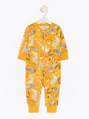 Pyžamo se vzorem zvířátek Žlutá