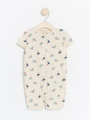 Pyjamas with Sail Boats Beige