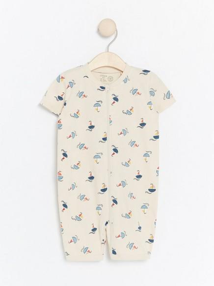 Pyjama, jossa purjeveneitä Beige