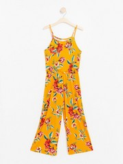 Patterned Jumpsuit Orange