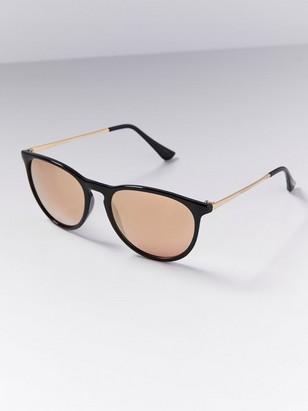 Zrcadlové sluneční brýle Černá