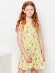 Flared Dress Yellow