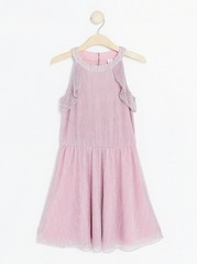 Pleated Pink Dress Pink