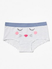 Stripe and Dot Briefs White