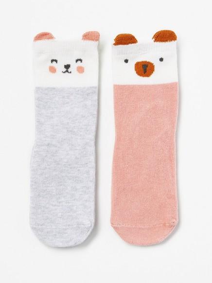 Eläinkuvioidut sukat, 2 paria Vaaleanpunainen