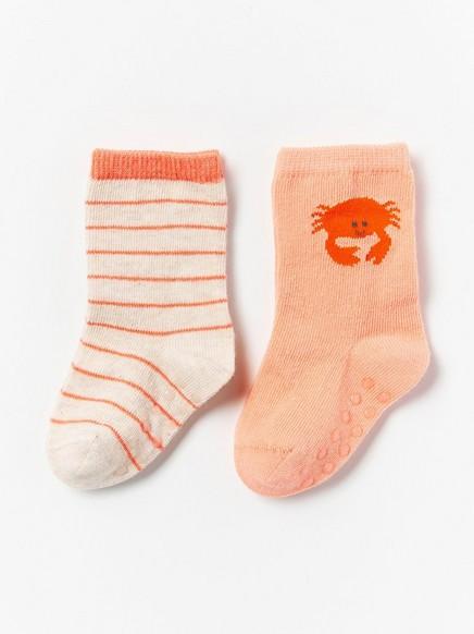 2-pakning med sokker Oransje