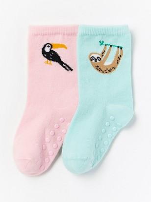 2-pakning med sokker med dyremotiv Turkis