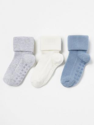 3-pack ribbade strumpor Blå