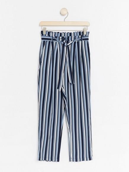 Stripete bukser Blå