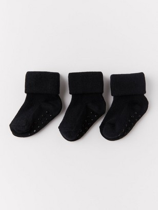 3-pack Ribbed Socks Black