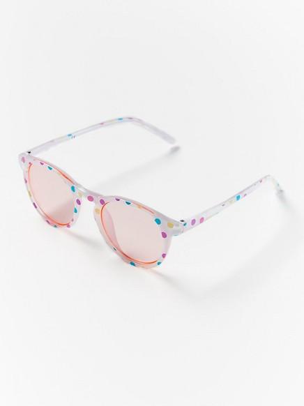 Solbriller med prikker Rosa