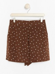 High-waist Viscose Shorts  Brown