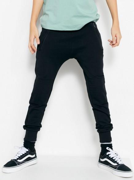 Bukse med knelapper Svart
