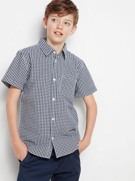 Rutete skjorte med korte ermer Blå