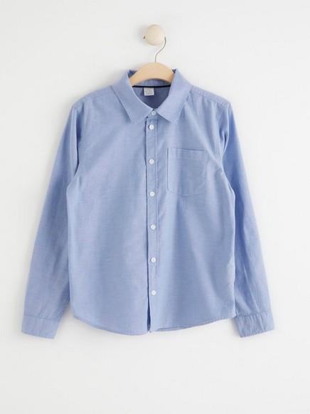 Cambricskjorte Blå