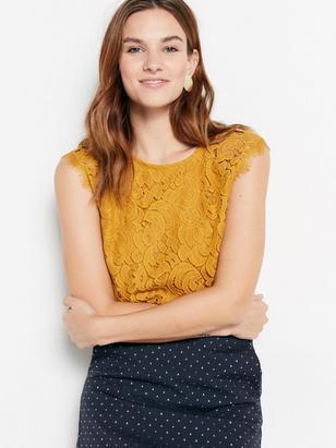 Yellow Lace Blouse Yellow