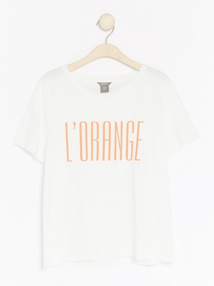 T-paita puuvillasekoitteesta Valkoinen