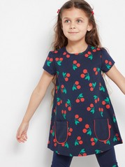 Tunic with Cherries Blue