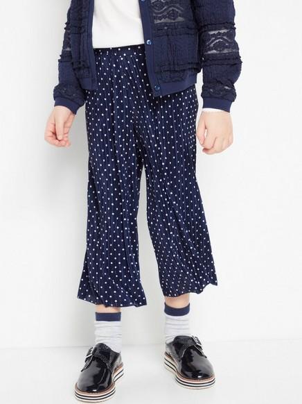 Laskostetut pilkulliset housut Sininen