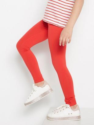 Röda leggings med rosetter Röd