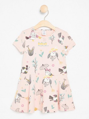 Tunic with Owls Pink