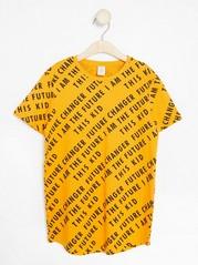 Long T-shirt with Print Orange