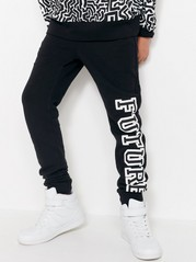 Black Sweatpants with Print Black
