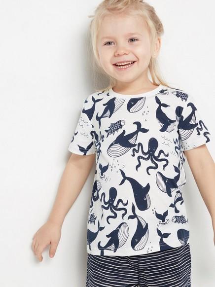 T-skjorte med skapninger fra havet Hvit