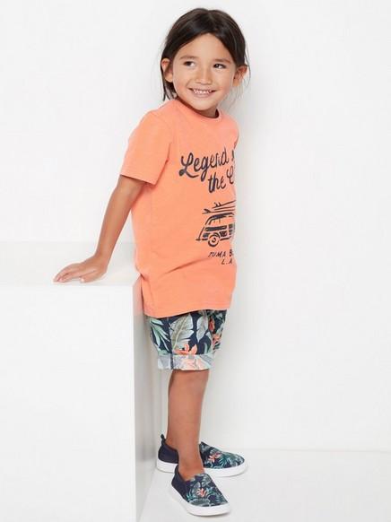 T-skjorte med trykk Korall