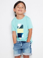 Top with ice cream in flip sequins Turquoise