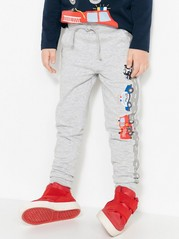 Trousers with Roads and Cars Grey