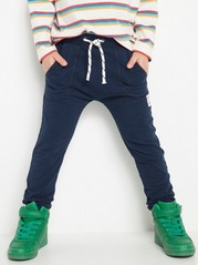 Slub Jersey Trousers Blue