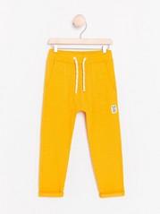 Slub Jersey Trousers Yellow