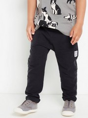 Slub Jersey Trousers Black