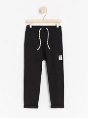 Žerzejové kalhoty Černá