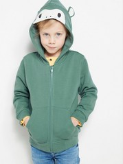 Hooded Sweater with Ears Green