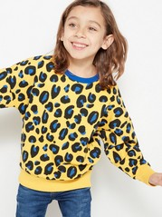 Sweater with Leo Spots Yellow