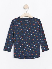 Long sleeve top with dinosaurs Blue
