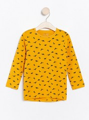Long sleeve top with dinosaurs Yellow