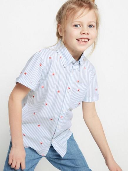 Mønstret skjorte Blå