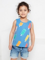 Blue tank top with ice cream Blue