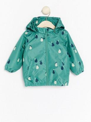 Kuviollinen sadetakki Vihreä