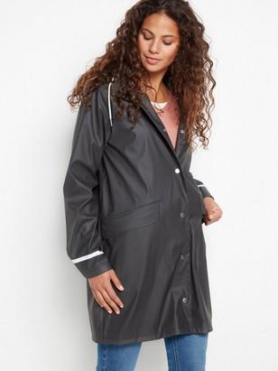 Černý plášť do deště Černá