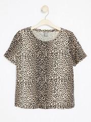 T-shirt med djurmönster  Svart