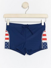 Swim Trunks with Stars and Stripes Blue
