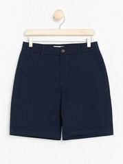 Long Chino Shorts  Blue