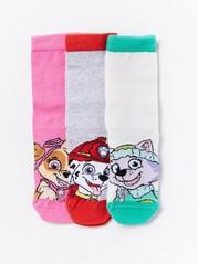 3-pakning med sokker fra Paw Patrol Rosa
